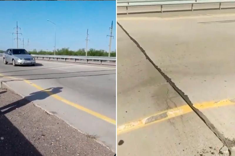 Дефекты на трассе Алматы - Хоргос сняли на видео