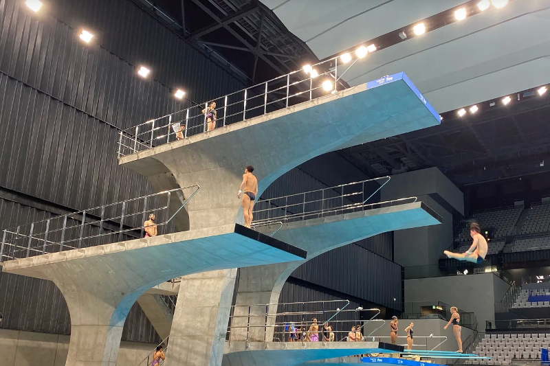 哈萨克斯坦选手参加跳水世界杯暨奥运会资格赛