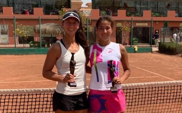 Казахстанка победила в парном разряде на теннисном турнирев Египте