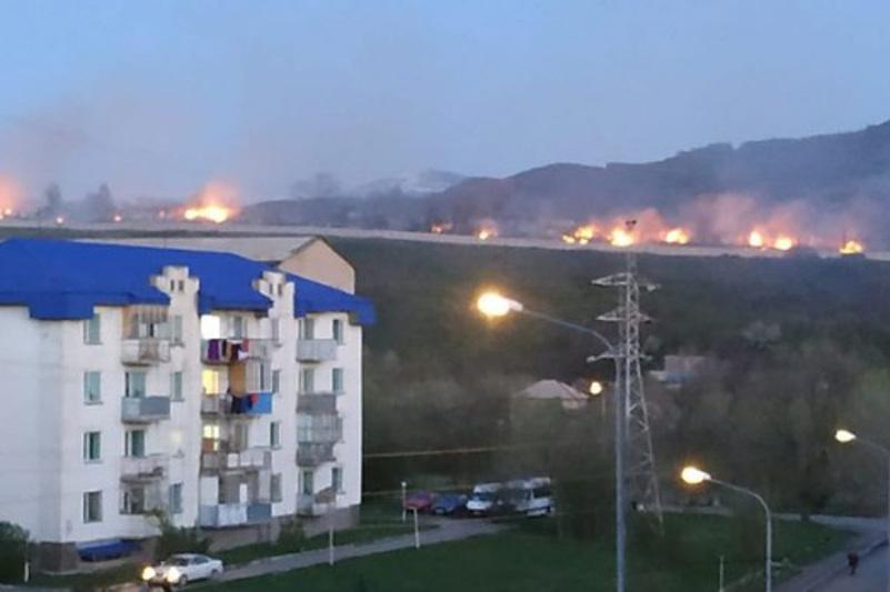 Кладбище горело в Алматинской области
