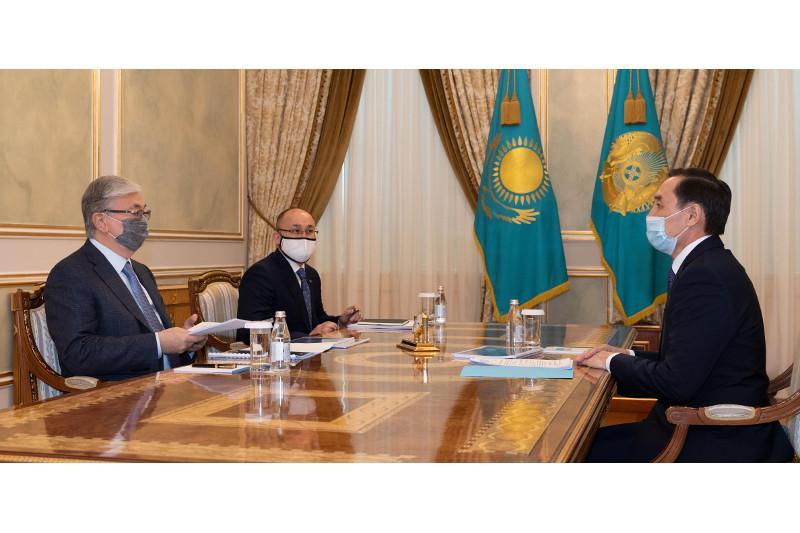 托卡耶夫总统接见民族和睦大会副主席