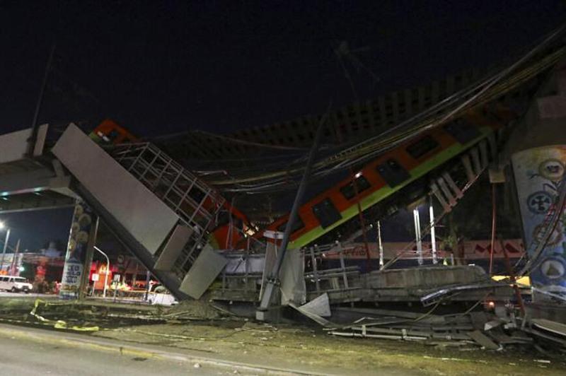 墨西哥首都高架轨道坍塌事故死亡人数上升至23人