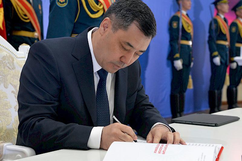 President of Kyrgyzstan Sadyr Zhaparov signs new Constitution