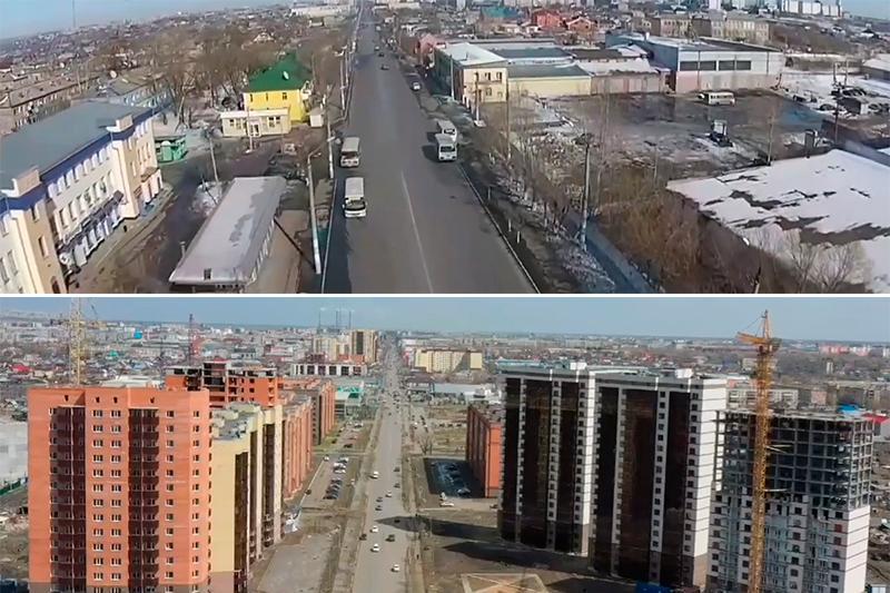 Аким СКО показал, как изменился въезд в Петропавловск за четыре года