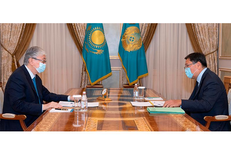 Президент Касым-Жомарт Токаев принял председателя Национального банка Ерболата Досаева