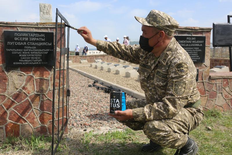 Места захоронения польских солдат привели в порядокв Жамбылской области