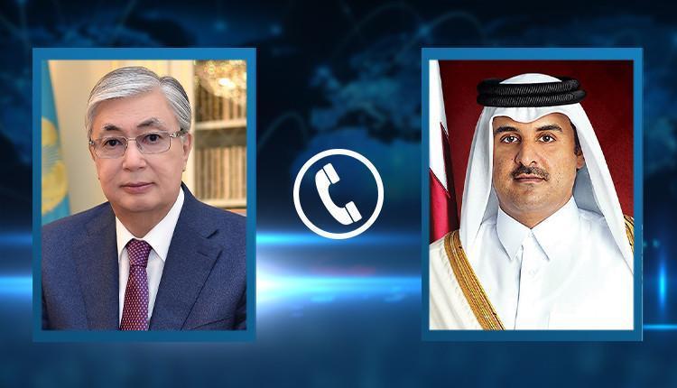 托卡耶夫总统与卡塔尔埃米尔通电话