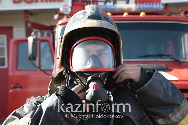 Пожар произошел в столичной бане «Керемет»