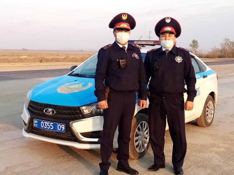 От пожара спасли домашний скот и дом карагандинские полицейские