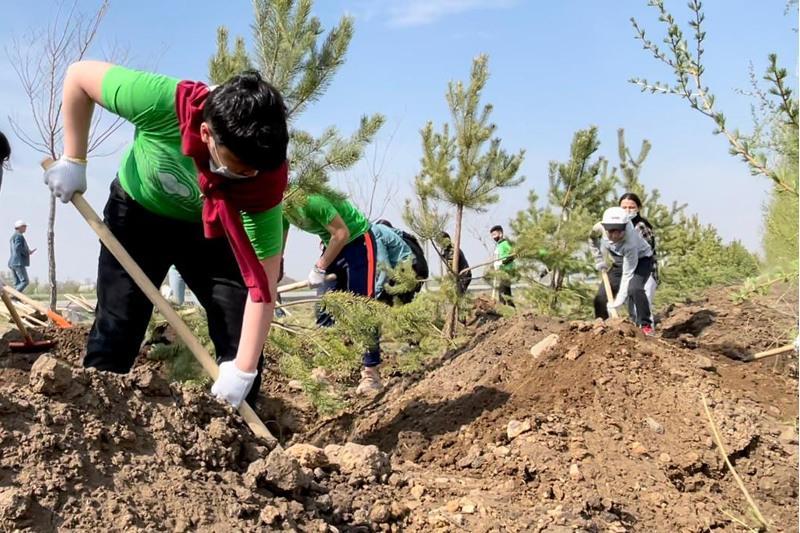 Посвященную Дню Победы акцию «Сад памяти» провели в Нур-Султане
