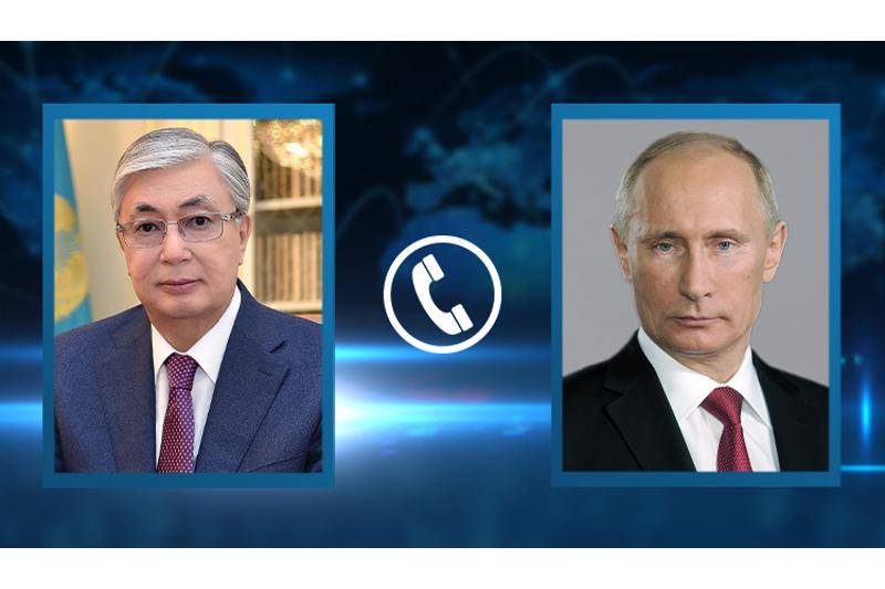 Состоялся телефонный разговор Касым-Жомарта Токаева с Владимиром Путиным