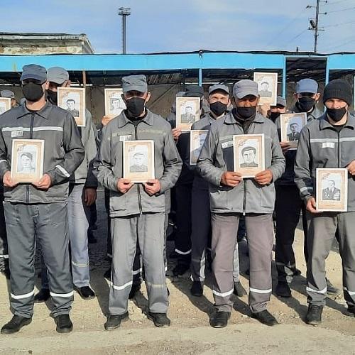 Память фронтовиков ВОВ почтили в колонии Павлодарской области