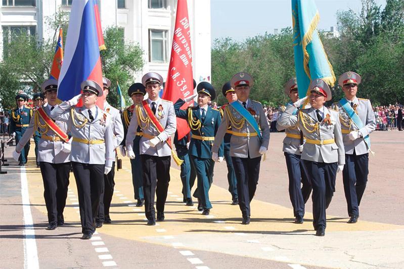 Парад Победы прошел в Байконуре