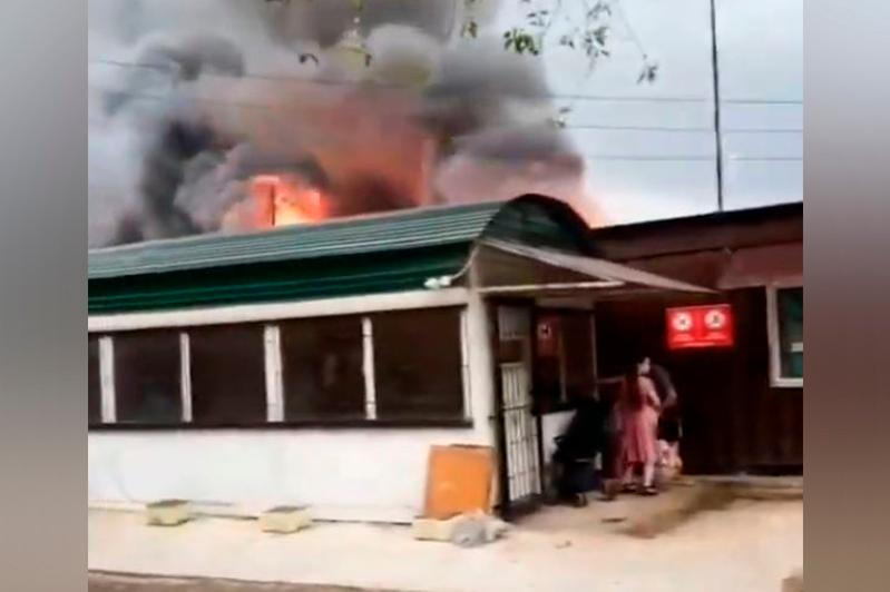 Склад горел в Алматы