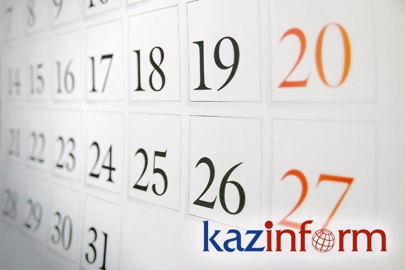 May 11. Kazinform's timeline of major events
