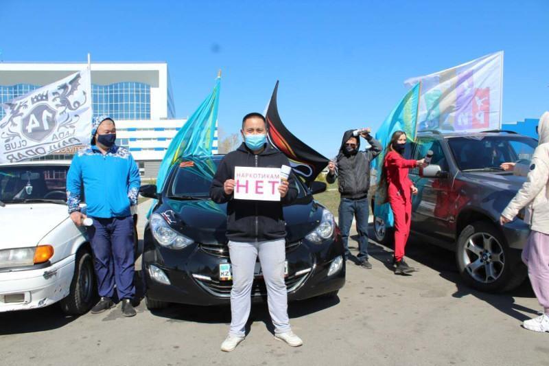 В Павлодаре проведен автопробег «Наркотикам НЕТ!»
