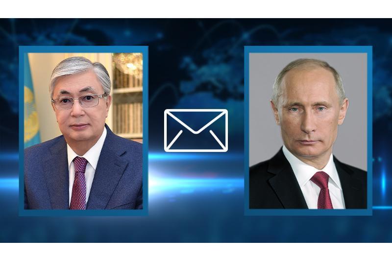 托卡耶夫总统向俄罗斯总统致慰问信
