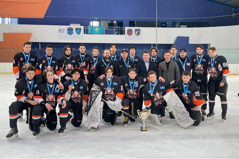 Столичные юниоры стали семикратными чемпионами РК по хоккею
