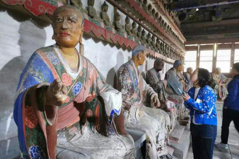 1,000-year-old Buddhist statues restored in east China