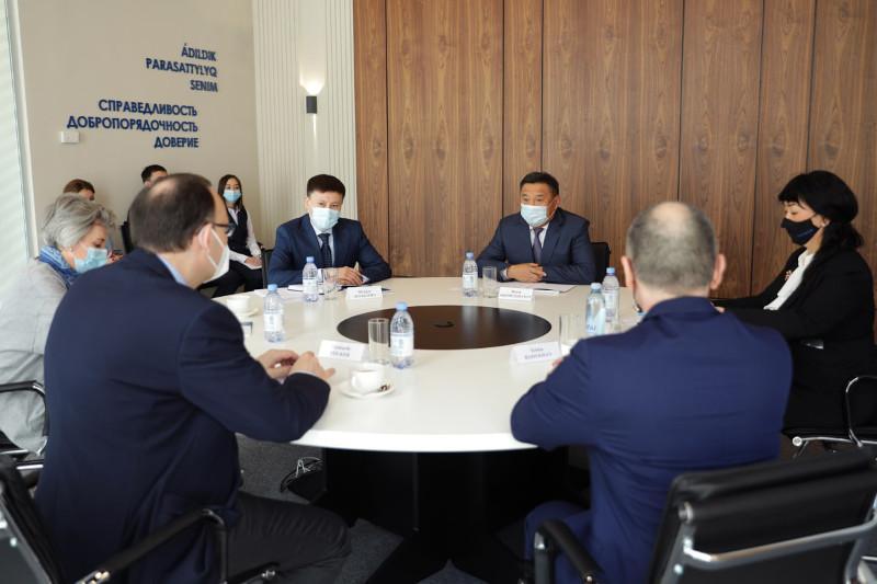 Марат Ахметжанов встретился с новым главой Офиса программ ОБСЕ в Нур-Султане