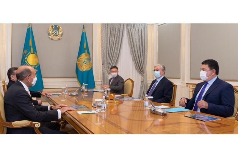 托卡耶夫总统会见ERG集团股东