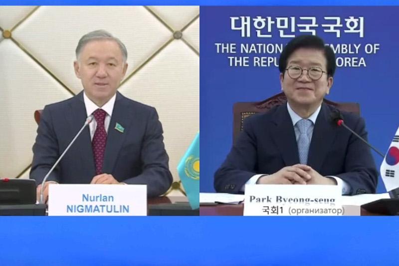 Нурлан Нигматулин и спикер Парламента Республики Корея обсудили вопросы межпарламентского сотрудничества