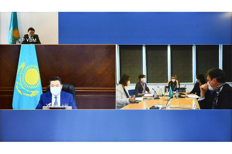 Аскар Мамин встретился с вице-президентом Всемирного банка