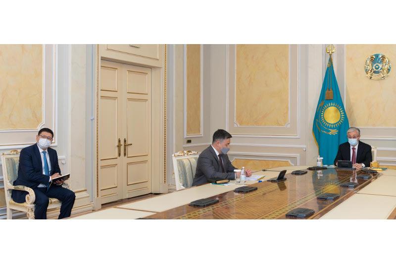 Глава государства принял отчет Национального банка Казахстана