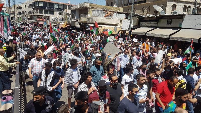 Иордания халқы палестиналықтарды қолдап, көшеге шықты
