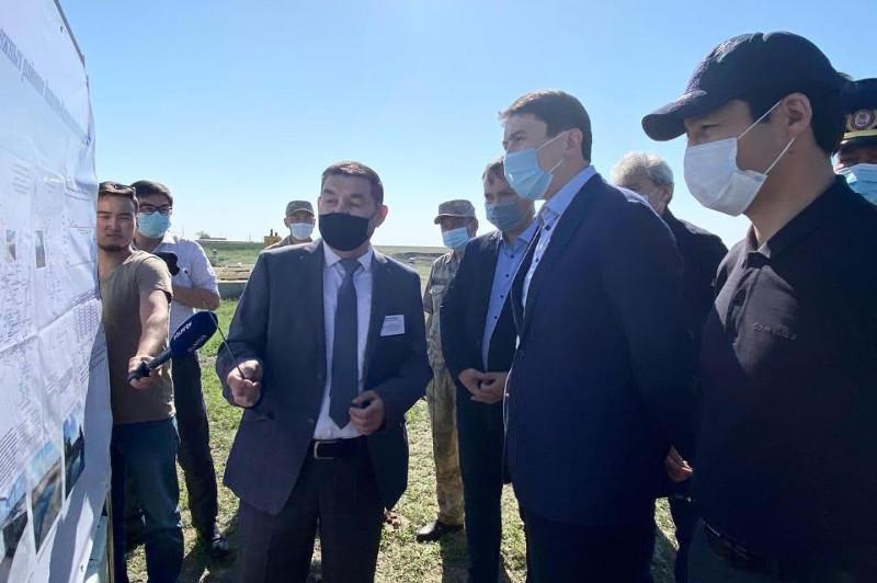 Министр экологии проверил работу водохозяйственных объектов в ЗКО
