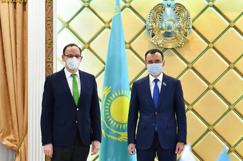 Председатель Сената встретился с Главой Офиса программ ОБСЕ в Нур-Султане