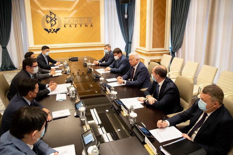Руководители «Самрук-Қазына» и «ЛУКОЙЛ» обсудили сотрудничество в нефтегазовой отрасли