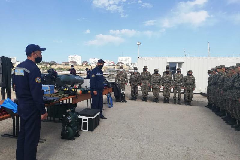 Региональные учения гвардейцев-химиков прошли в Актау