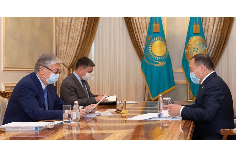 Касым-Жомарт Токаев принял заместителя Премьер-Министра Ералы Тугжанова