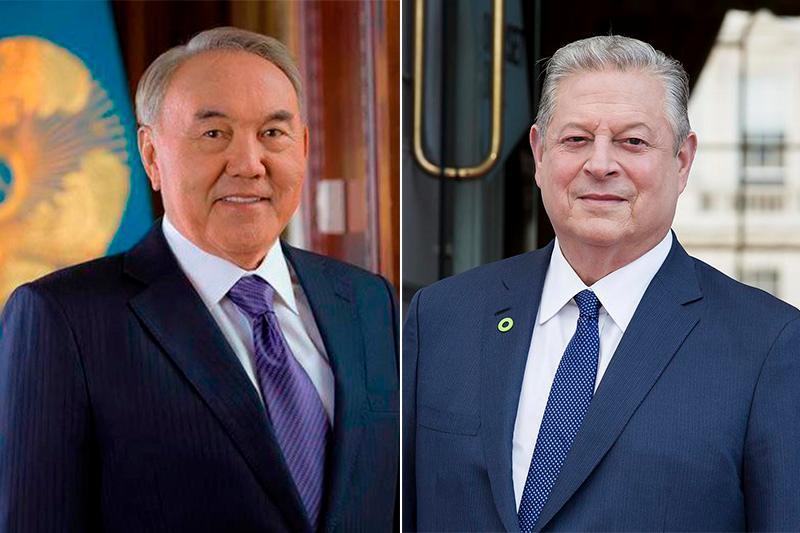 Nursultan Nazarbayev, former US Vice President Al Gore hold phone talk