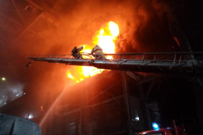 Пожар произошел на медеплавильном заводе в Жезказгане