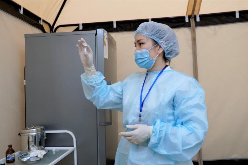 Above 100,000 get COVID-19 vaccine both shots in Karaganda region
