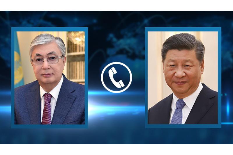 托卡耶夫总统同中国国家主席习近平通电话