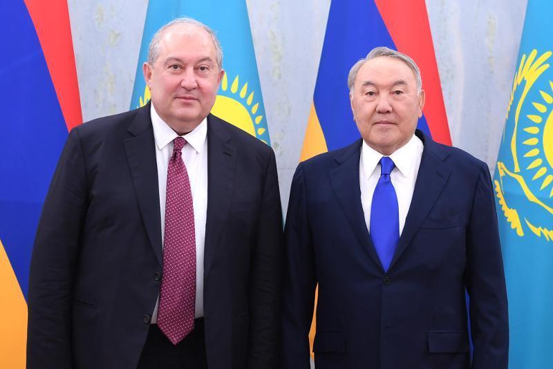 Қазақстанның Тұңғыш Президенті Армен Саркисянмен кездесті