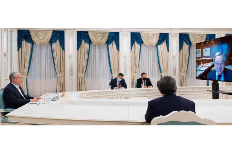 Qazaqstan Prezıdenti BUU Bas hatshysymen kelissóz ótkizdi