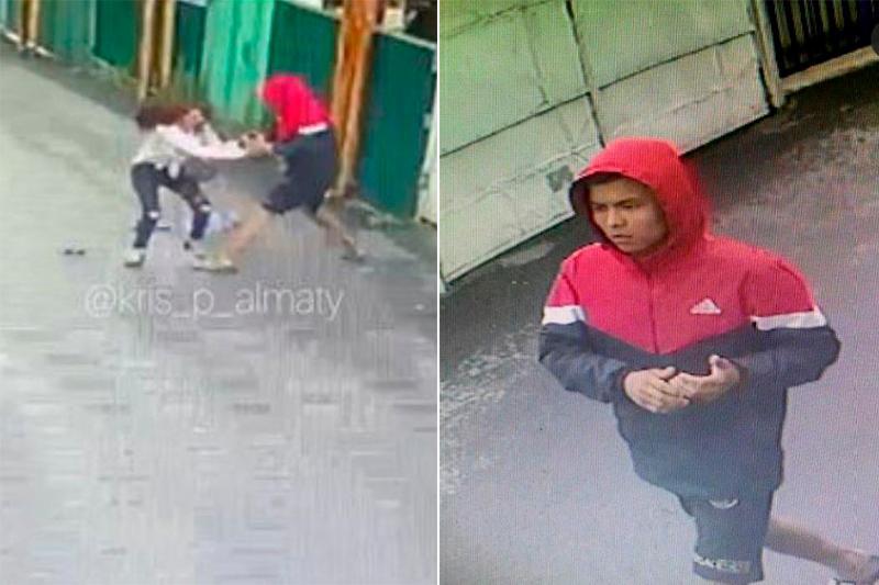 Видео ограбления девушки средь бела дня в Алматы попало в Сеть
