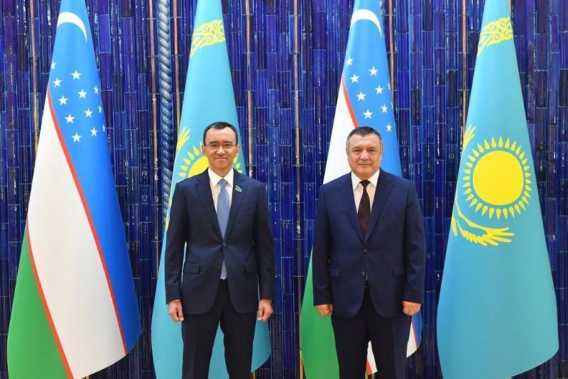 Kazakh Senate Speaker meets with Chairman of Legislative Chamber of Oliy Majlis
