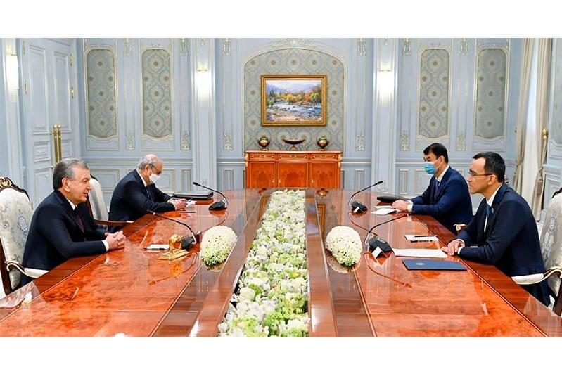 Kazakh Senate Speaker meets with Uzbek President Shavkat Mirziyoyev