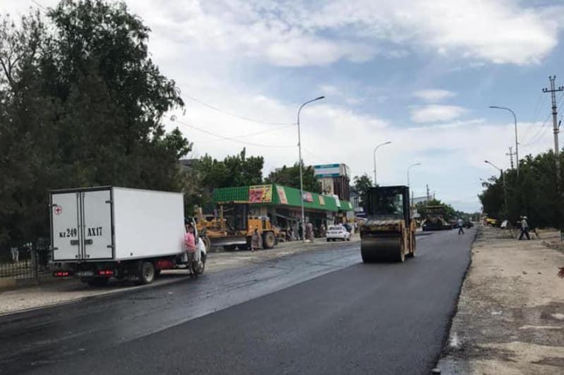 Областные дороги ремонтируют в Туркестанской области