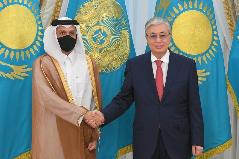 Президент РК обсудил с шейхом Мохаммедом бин Абдулрахманом Аль Тани вопросы двустороннего сотрудничества