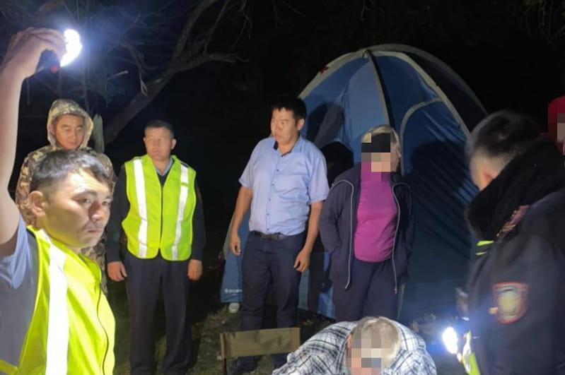 Четырех пропавших в горах Туркестанской области туристов нашли полицейские