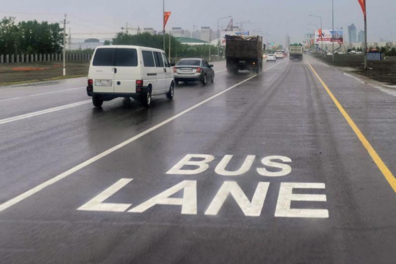 Как будут работать полосы Bus lane на автодорогах Казахстана
