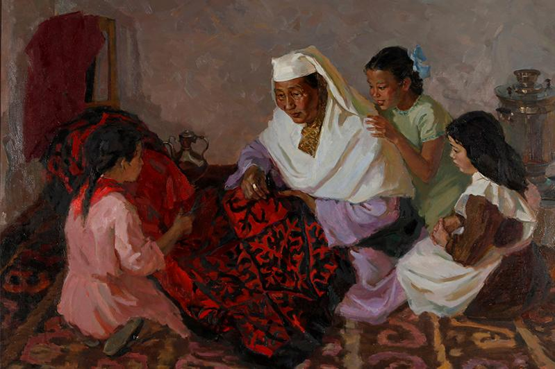 Выставку произведений художников-юбиляров представили в Алматы
