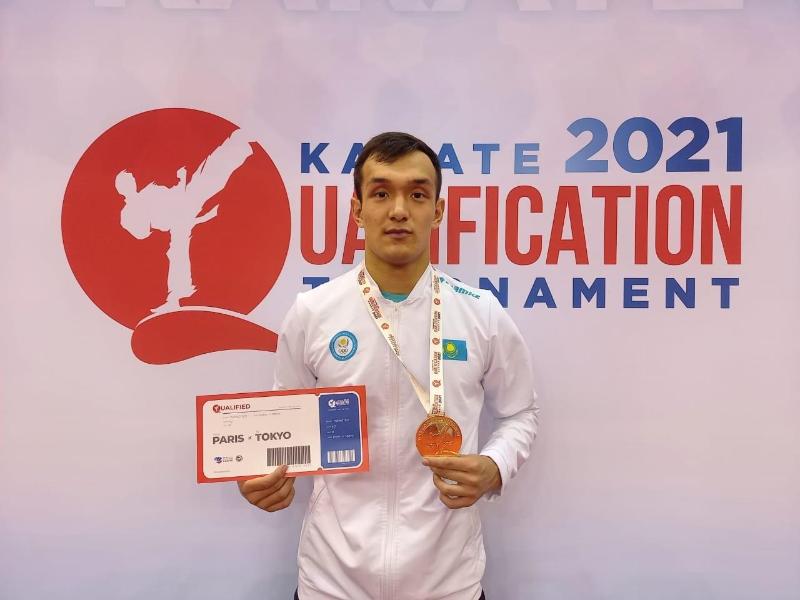 Каратист Нурканат Ажиканов завоевал олимпийскую лицензию