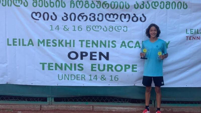Қазақстандық жас теннисші Грузияда өткен турнирдің чемпионы атанды